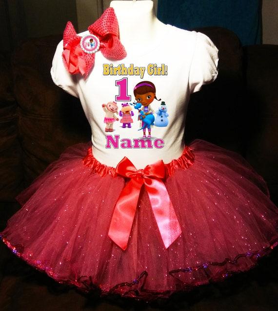 853a1d6413564 Doc McStuffins robe nom 1er 1 premier anniversaire Shirt