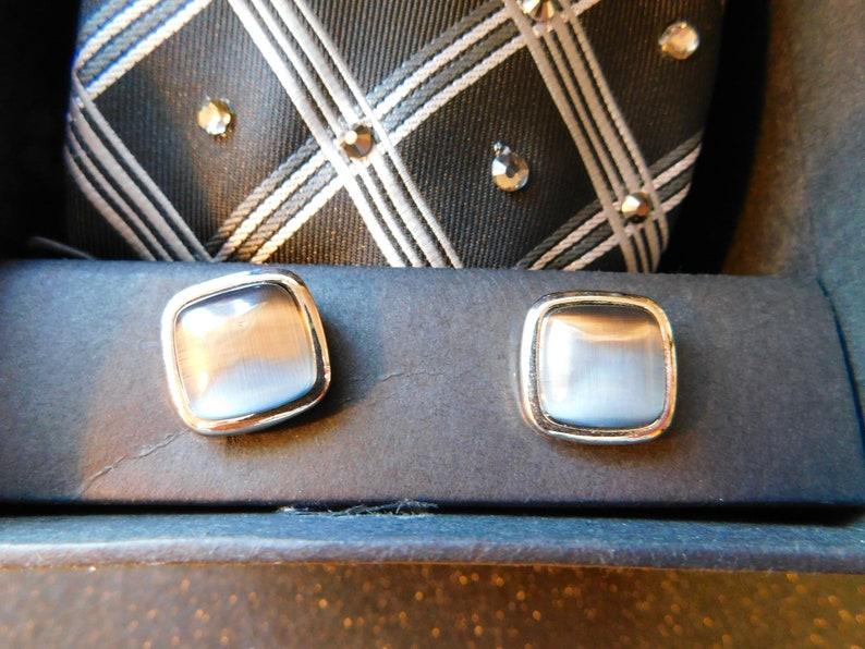 Black and grey rhinestone necktie box set