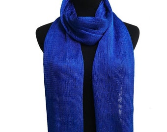 Royal Blue Glitter Scarf Shawl / Mothers Day Gift / Wedding Favor Gift / Evening Prom Accessories / Bridal Accessories Evening Prom Shawl