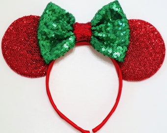 popular items for disney christmas ears