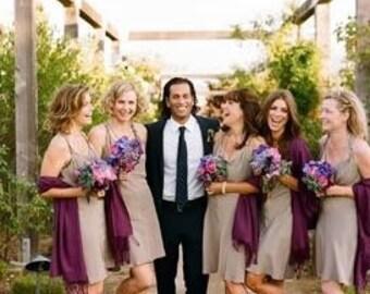 Purple Wedding Scarf Shawl  Metallic Shawl  Bridesmaid Shawl  Wedding Favor  Bridal Wrap  Wedding Shawl  Bridal Cover Up Wedding Wrap