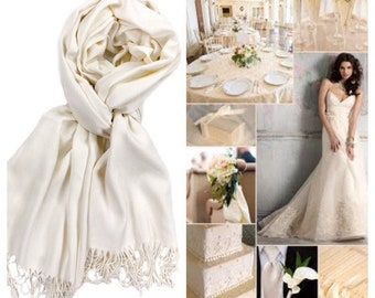 5ee694c0f67 Ivory Pashmina Scarf Shawl   Pick Your Color   Personalized Initial Shawl   Bridesmaid  Shawl   Wedding Shawl   Ivory Shawl   Bridal Wrap