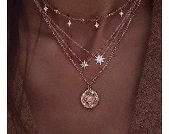 Chandelier Necklace Black Necklace Bohemian Necklace Boho Jewelry Pendant Necklace Boho Necklace Silver Necklace Handmade Necklace