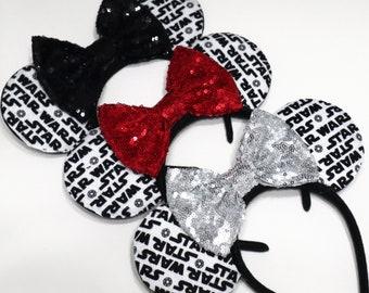 detailed look a673b b023d Star Wars Ears, Disney Ears, Black Ears, Darth Vader Ears, Rose Gold Minnie Mouse  Ears, Black Mouse Ears, Mickey Mouse Ears, Red Mouse Ears