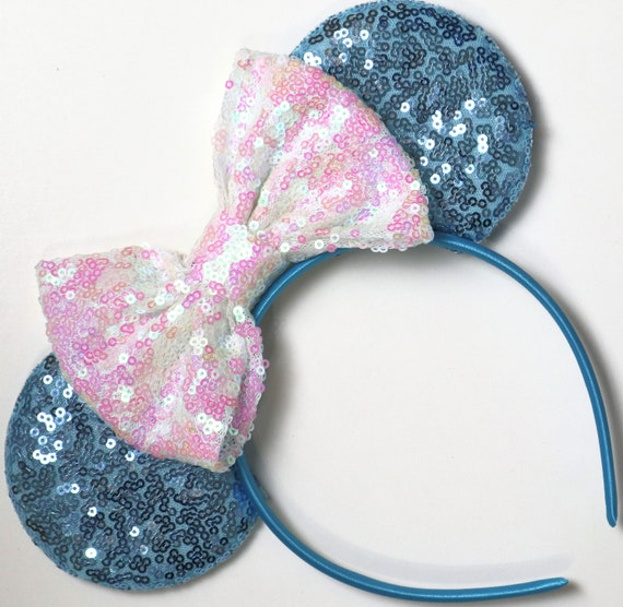Elsa Frozen Inspired Minnie Mouse Ears.