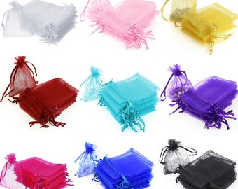 """Set of 12 organza Bag 3""""x 4"""" 4""""x5"""" 5""""x7"""" 6""""x9"""" Wedding Favor Bags, Party Favor Bags, Bags Jewelry Candy Packing Pouch Drawstring Bag"""