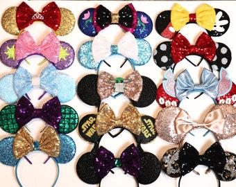 Princess Ears, Minnie Ears, Princess headband, Princess Mickey Ears, Disney Mickey Ears, Princess Mouse Ears, Mickey Minnie Birthday Party