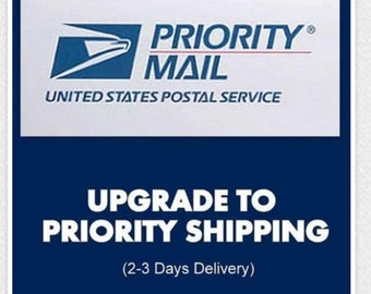 Priority shipping upgrade 2-3 business days (US only)