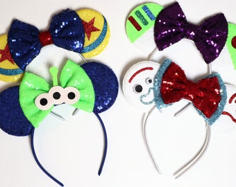 Toy Story Inspired Minnie Mouse Ears Headband / Toy Story Ears / Toy Story Minnie Ears / Disney Mickey Ears / Disney Minnie Mouse Ears