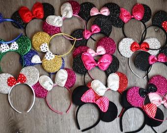 CLEARANCE! 3pc x Mickey Minnie Ears /mystery bags/ Assorted Minnie Mouse Ears / Bundle Minnie ears  /Disney trip/bulk lot Minnie Ears