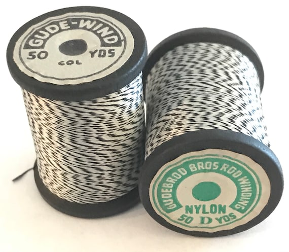Size 00 Vintage Silk Black and White Jasper Thread