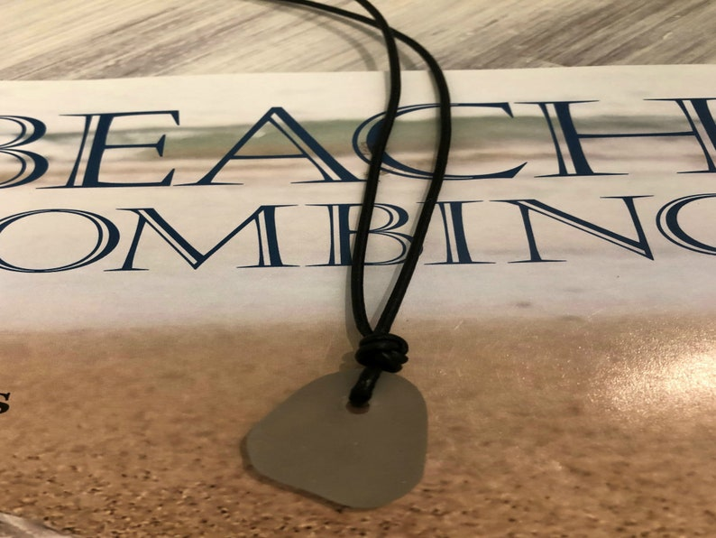 Graduation Eco Friendly Jewelry Beach Glass Beach Wedding Whimsical Necklace Retirement Boho Wedding Grey Sea Glass Ohio Lake Erie