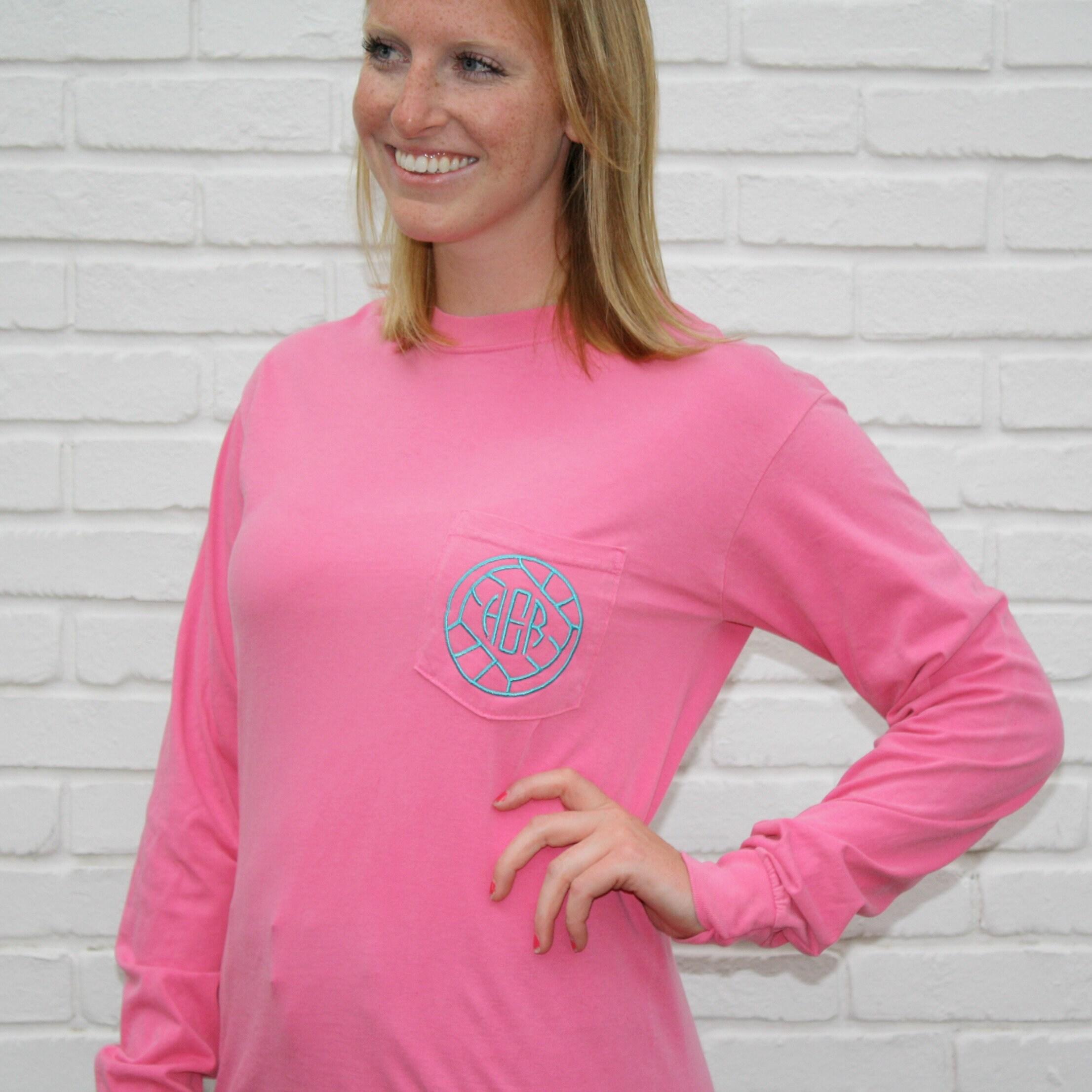 Volleyball Shirt Monogram Shirt Volleyball Mom Shirt Long Etsy