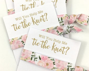 Bachelorette Party | Bridesmaid Proposal | Bachelorette | Will You Be My Bridesmaid | Bachelorette Party, Tying the Knot, Hair tie Favors