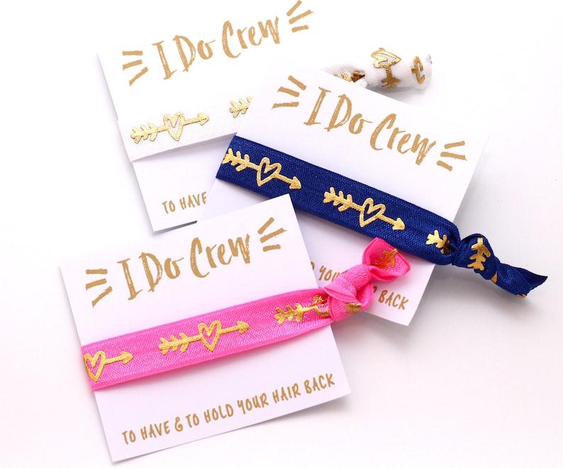 Bachelorette Party Hair Tie Favors  Bachelorette Favors  I image 0