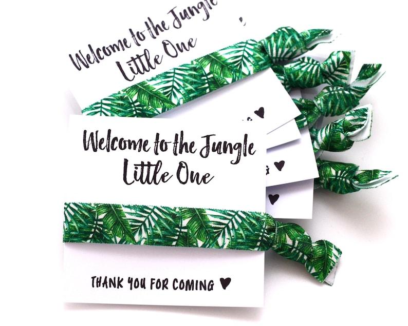Jungle Baby Shower Favors  Jungle Safari Theme  Tropical image 0