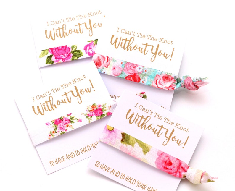 Garden Outdoor Wedding  Bachelorette Party Hair Ties  image 0