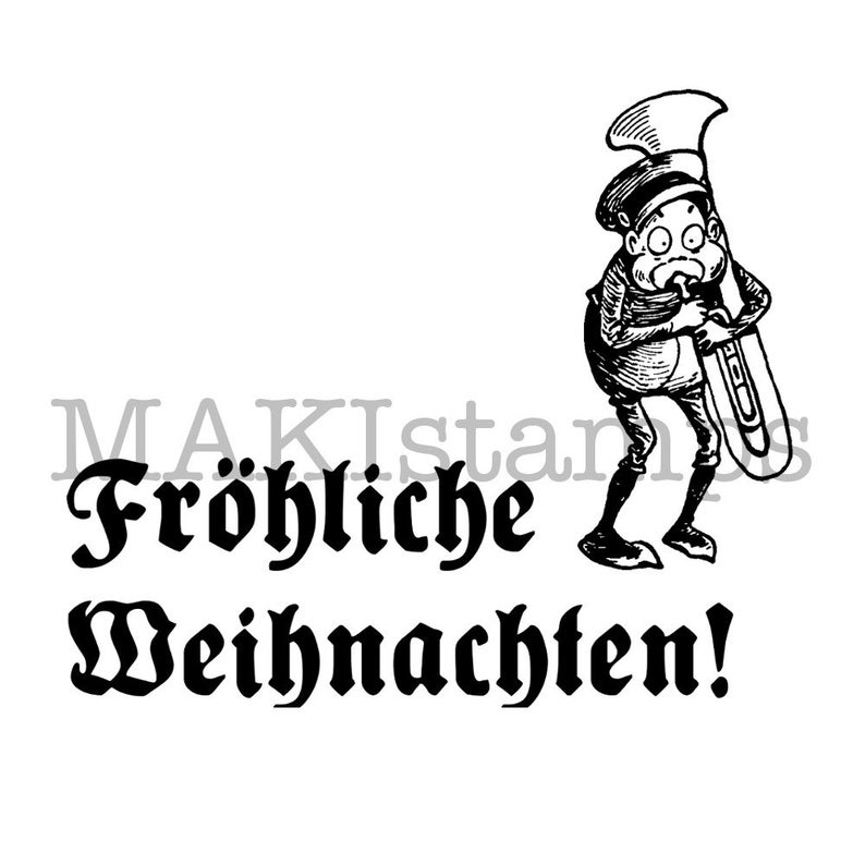 Funny christmas rubber stamp  german Christmas stamp  Vintage Christmas text stamp  unmounted or cling stamp option 160203