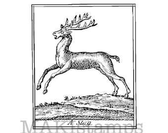 Stag rubber stamp / Unmounted rubber stamp / Christmas stamp (140701)