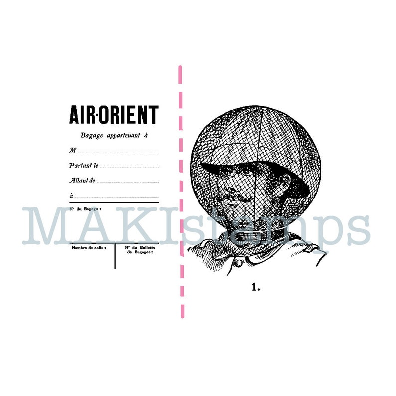 unmounted or cling stamp 180501 Adventurer rubber stamp set of two  luggage tag stamp and adventurer