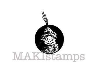 Brownie little Inuit / Unmounted rubber stamp / North pole stamp (131112)