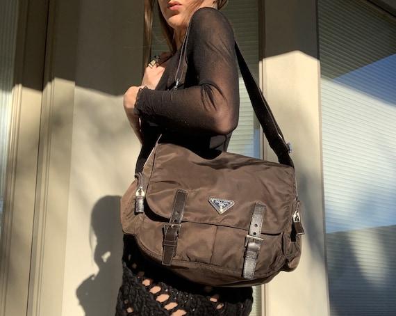 90's Prada Nylon Tessuto Crossbody Messenger Bag - image 2