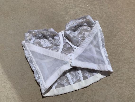 38D - White Lace Corset Bustier Top - image 2