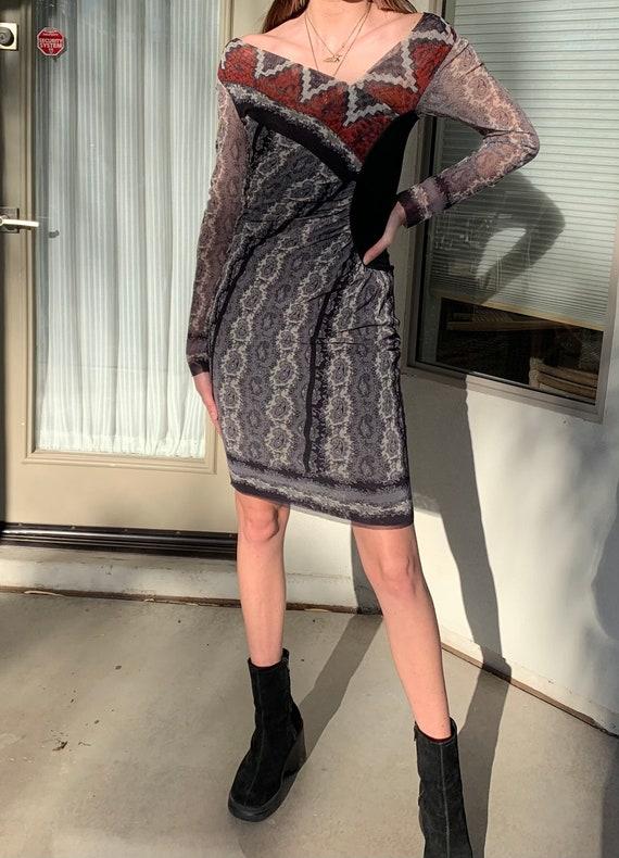 S - 90's Jean Paul Gaultier Soleil Mesh Dress - image 2