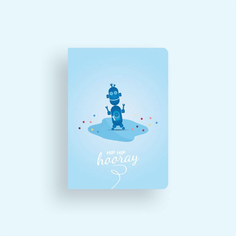 Birthday Card  Robots & Dots Collection by Celebratink  image 0