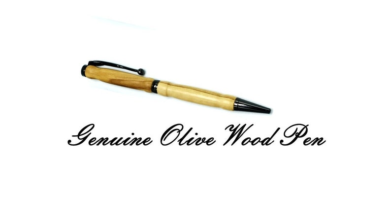 Mothers Day Olive Wood Pen/wood gift/wood pen/cute image 0