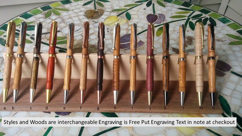 Free Personalization on Pen  PERSONALIZED Exotic NATURAL Wood image 0