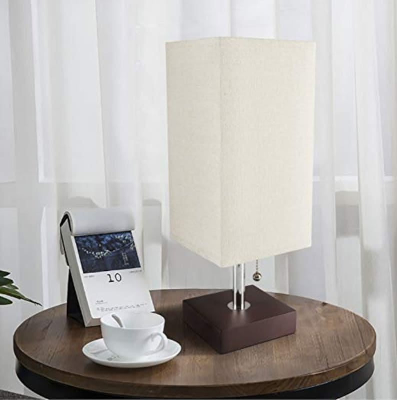 Minimalist Table Lamp Bedside Desk Lamp With USB Charging image 0