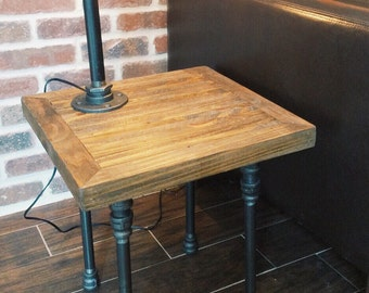 Industrial Pipe End Table