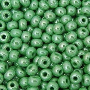 120 80 60 Green Opaque Seed Beads 2mm 3mm 4mm Green Seed Beads Green Rocailles