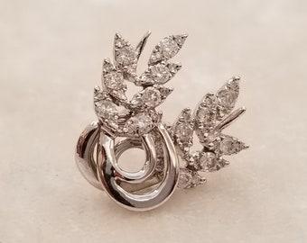 18 K white gold diamond earrings