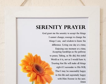 Personalised Framed Serenity Prayer