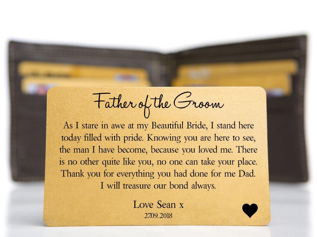 Personalised Daddy Dad Love This Much Keepsake Metal Wallet Card Gift