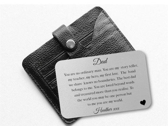 Wallet Card Size Poem Keepsake New Wife Husband Wedding Gift Personalised Back
