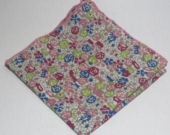 A Floral Pocket Square