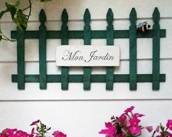 Hand-Painted Vintage-Style Garden Sign
