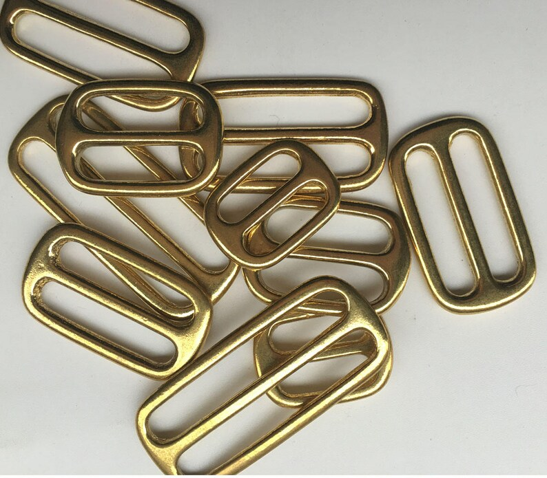 Pure cupper brass Slider Tri Glide Adjust buckle Hardware Bags garment Leathercraft inside diameter 13mm 16mm 20mm 25mm 32mm 38mm 50mm 2pcs