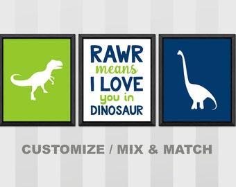 dinosaur wall art, dinosaur baby boy decor, dino nursery decor, rawr means i love you in dinosaur,dinosaur toddler room PRINT/CANVAS/DIGITAL