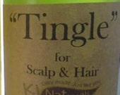 Tingle Scalp Oil for Growth Itch. Stimulates Follicles With Tea Tree, Rosemary, Evening Primrose, and Peppermint Essential Oils