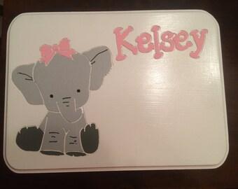 Kids Elephant Stools-White
