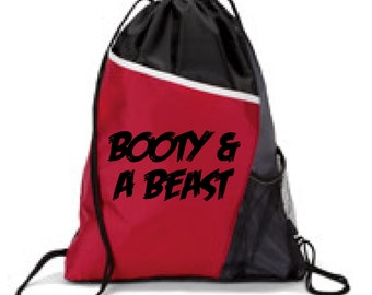 Booty & A BEAST, GYM BAG, Athletic Bag, Sports Bag, Running Bag, Lifting Bag, Hiking Bag