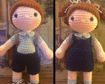 School Kids Emma & Jack Dolls - Amigurumi Crochet Pattern