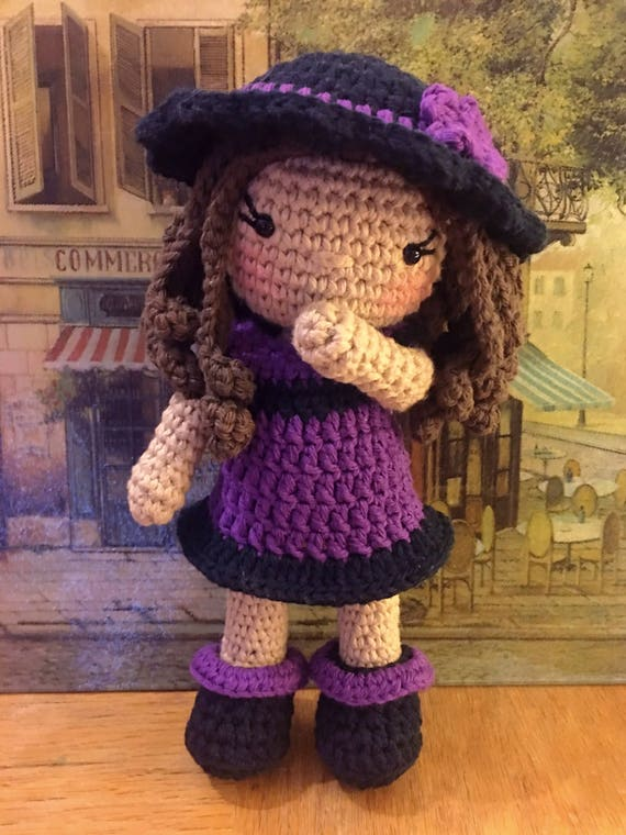 Amazon.com: Crochet doll 4 inch size articulated toy. Blond hair ... | 760x570