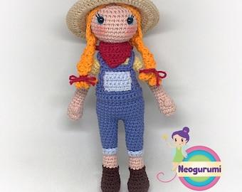 Farmer Josie - Amigurumi Crochet Doll Pattern