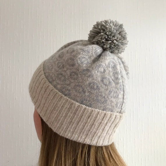 Ladies lambswool knitted bobble hat ladies knitted hat  40aaeeabf81