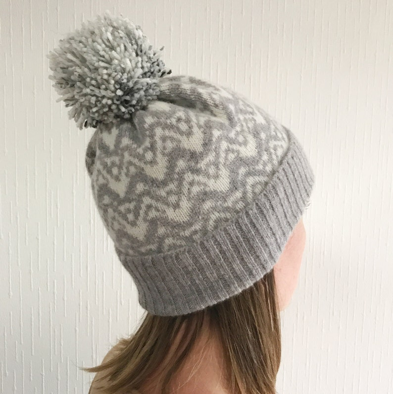 72dc297c118 Lambswool bobble hat knitted bobble hat knitted hat knit